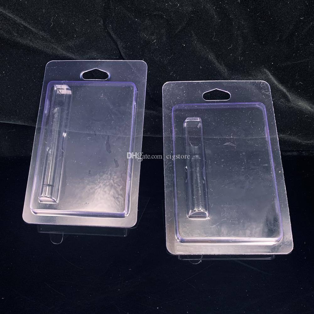 logo personnalisé pour conteneur stylo en plastique Cartouches Vaporizer Clamshell Blister Emballage Ecigs 510 verre atomiseur céramique Blisterpack