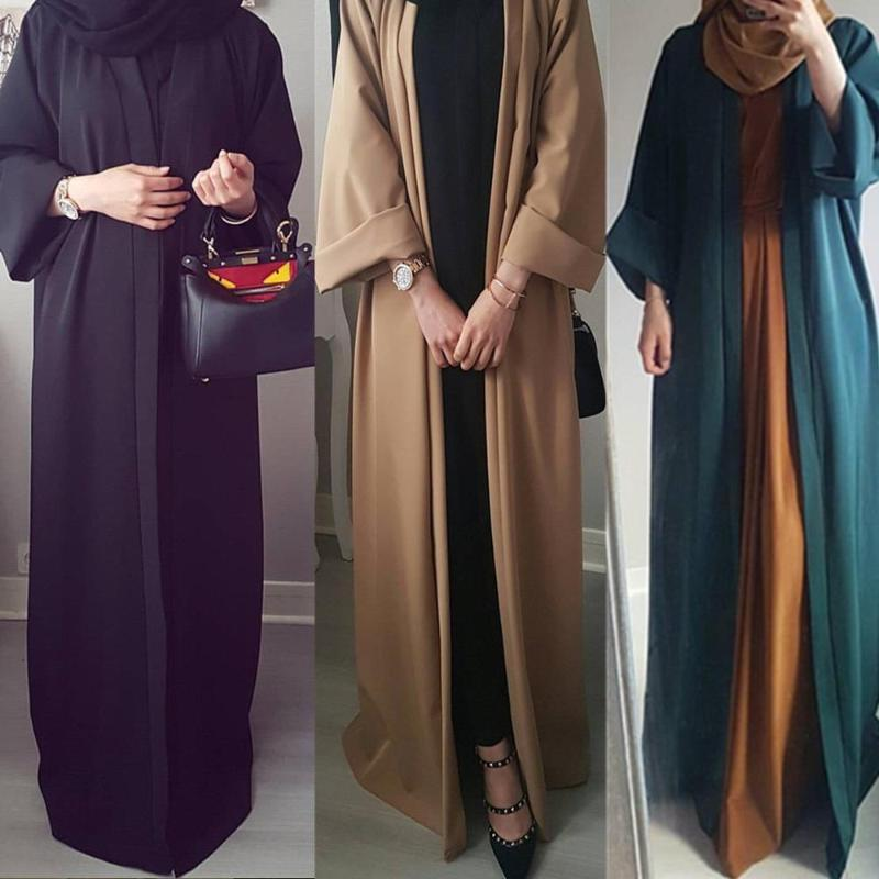 2020 Abaya Dubai Dress musulmano Kaftan Kimono Bangladesh Robe Turkish UAE EID Parte regalo Abbigliamento islamico Caftano