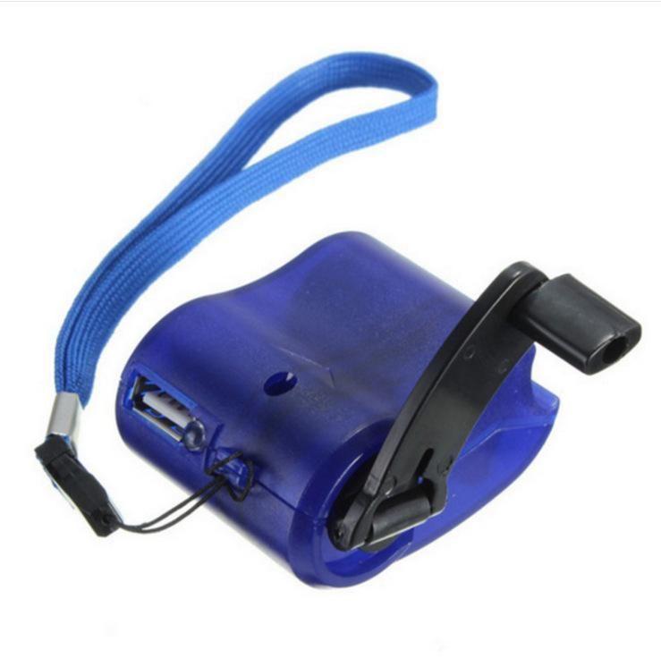 휴대폰 새로운 자유로운 선박을 위한 50pcs USB 손 힘 동력기 토치 빛 비상사태 충전기