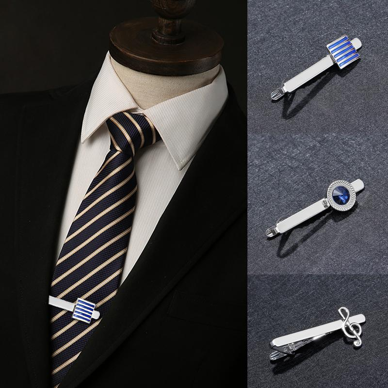 Men Tie Clips Cufflinks Business Shirt Square Cylinder Men Gifts Classic Jewelry Unique Wedding Groom High Quality Cuff Links