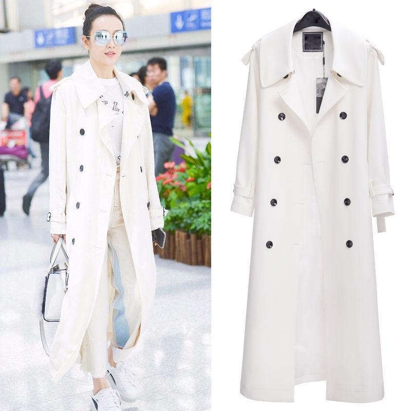 Women Trench Coat Autumn Winter Women Trench New Arrival Water Proof High Quality Long Windbreaker Double Breasted Coat