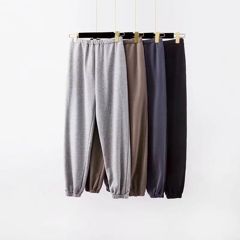 Moda Bayan Koşu Kargo Pantolon Pantolon Yüksek Elastik Wasit Seksi Gevşek Pantolon Joggers Gri Sweatpants Capris Kış Giysileri Y200114