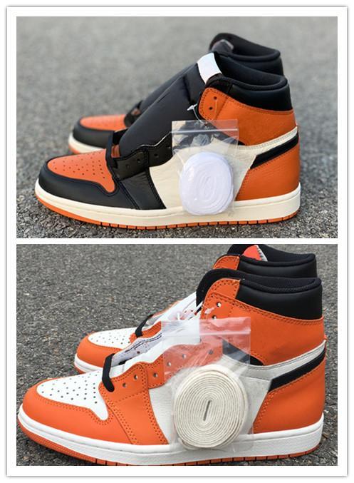 Оптовая 2019 Новый разрушенной спинодержатель оранжевый черный белый I 1 мужчины высокие ботинки баскетбола на открытом воздухе тренеры высокого качества размер бесплатная доставка 7-13