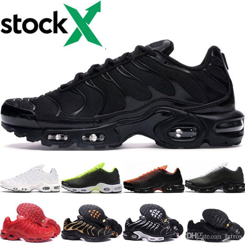 nike air max tn shoes Commercio all'ingrosso Tn Mens Donne Scarpe Cheap Triple Nero Bianco Rosso TN plus Sport Ultra Scarpe TN Blu Volt Spray scarpe da tennis della Designer
