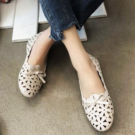 chaussures confortables semelle plate fond mou de 2020 femmes noeud papillon fête respirant dames occasionnels chaussures mignonnes