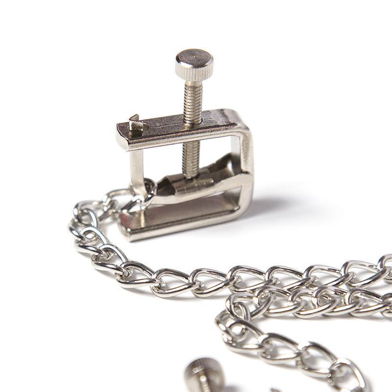 C18122501 Cadenas de acero Clips femeninos Links eróticos de mama con parejas de pezón de cadena Parejas BDSM Bondage Juguetes sexuales de metal para estimulador de metal KODD