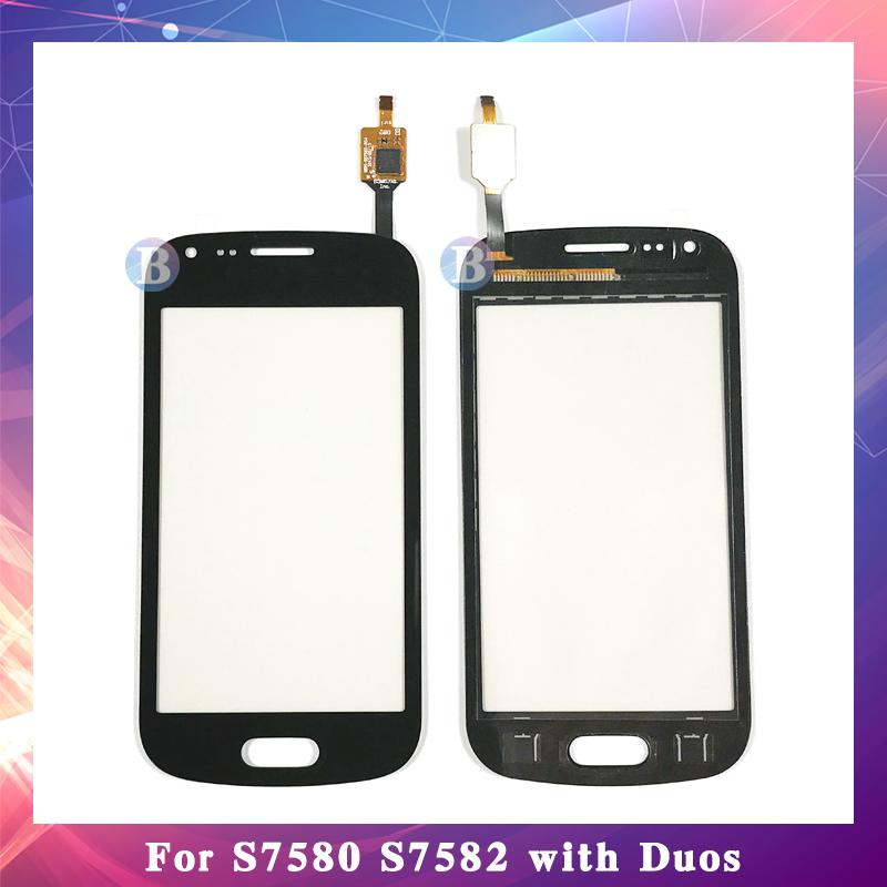 "10 Adet / grup 4.0 ""Samsung Galaxy Trend Artı S7580 S7582 DUOS Dokunmatik Ekran Digitizer Sensörü Dış Cam Lens Paneli"