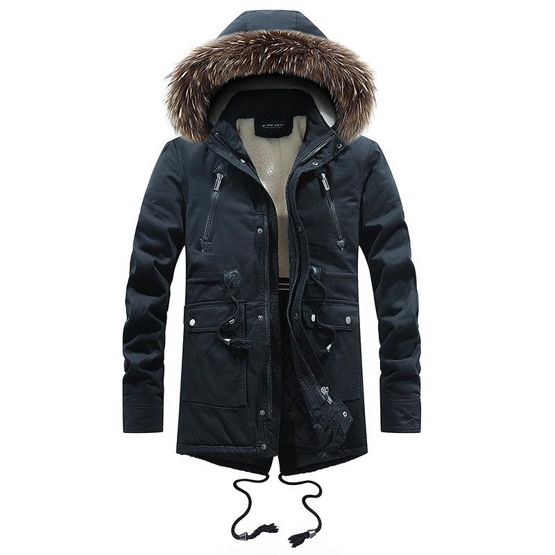 2019 hot New Fashion Parkas For Men Style Mens Winter Coat Long Style And Down Cotton Clothes Authentic Quality Outdoors Winter Jacket