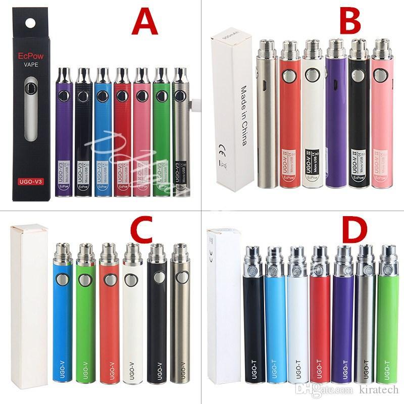 EcPow 510 eGo Ugo Vape Pen Preheat VV UGO-V3 Battery UGO-VII Pen UGO V eCig Vapes UGO T Vaporizer Smoking E Cigarettes Battteries