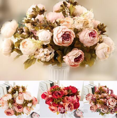 Wedding Supplies Artificial Bouquet 5 Head Silk Flower Fake Leaf Wedding Party Home Decor Uk Njz Home Furniture Diy New Times Bg
