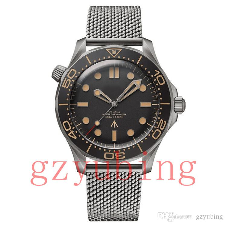 탑 시계 남성 남성 한정판 007 스카이 폴 남성 마스터 제임스 본드의 007 다이버 300M 시계 마크 50 스틸 손목 시계