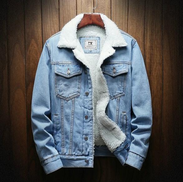 Männer Mode Jacken Designer Winter-Thick Jeansjacken Herren-Revers Langärmlig beiläufige lose Mäntel Top-Qualität Großhandel