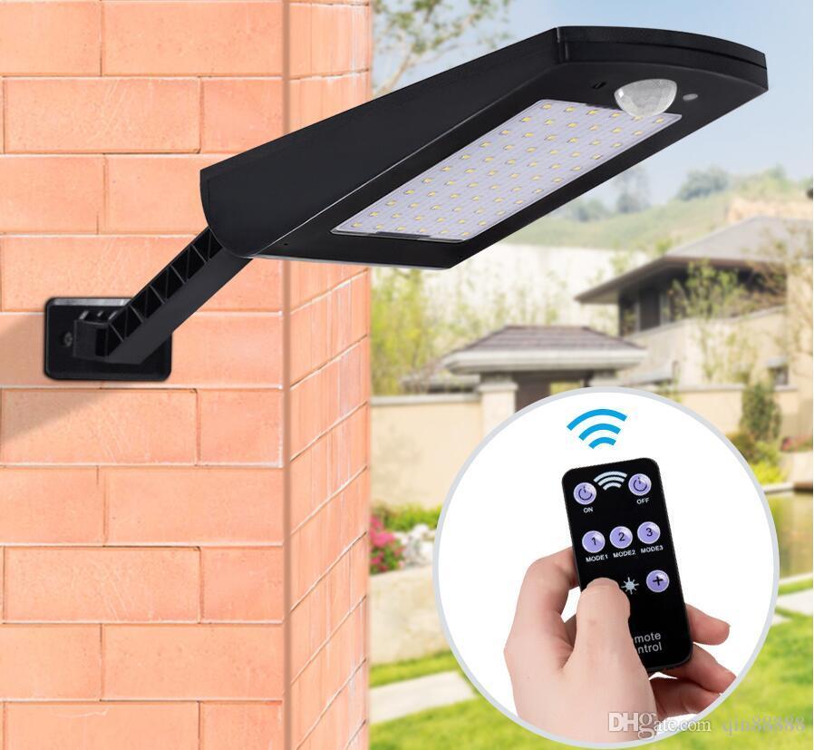Luci solari 48 applique da parete per esterno a LED per giardino Porta posteriore Gradino Scala Recinzione Ponte Cortile Vialetto Passerelle Sicurezza paesaggistica - Bianco