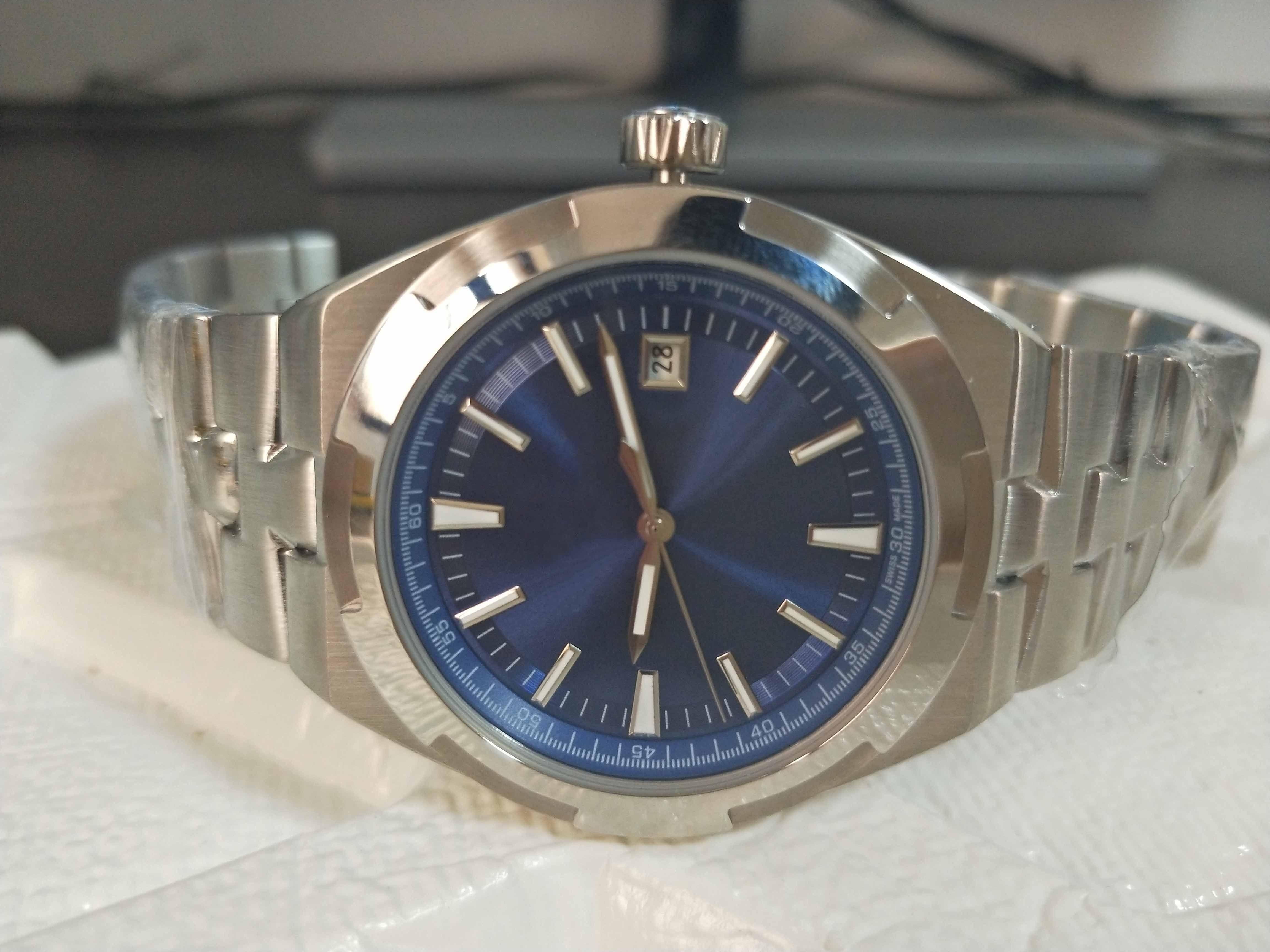 2 색 남성 높은 품질의 시계 41mm로 5500V110A-B481 4500V / 110A-B126 실버 기계 투명 자동 남성 시계 시계 다이얼