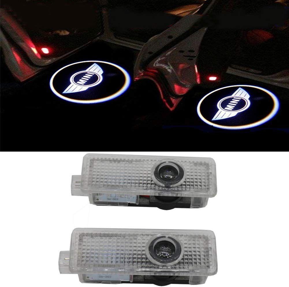 미니 쿠퍼 액세서리 LED 자동차 도어 미니 쿠퍼 12V (2 팩)의 경우 조명 프로젝터에 오신 것을 환영합니다
