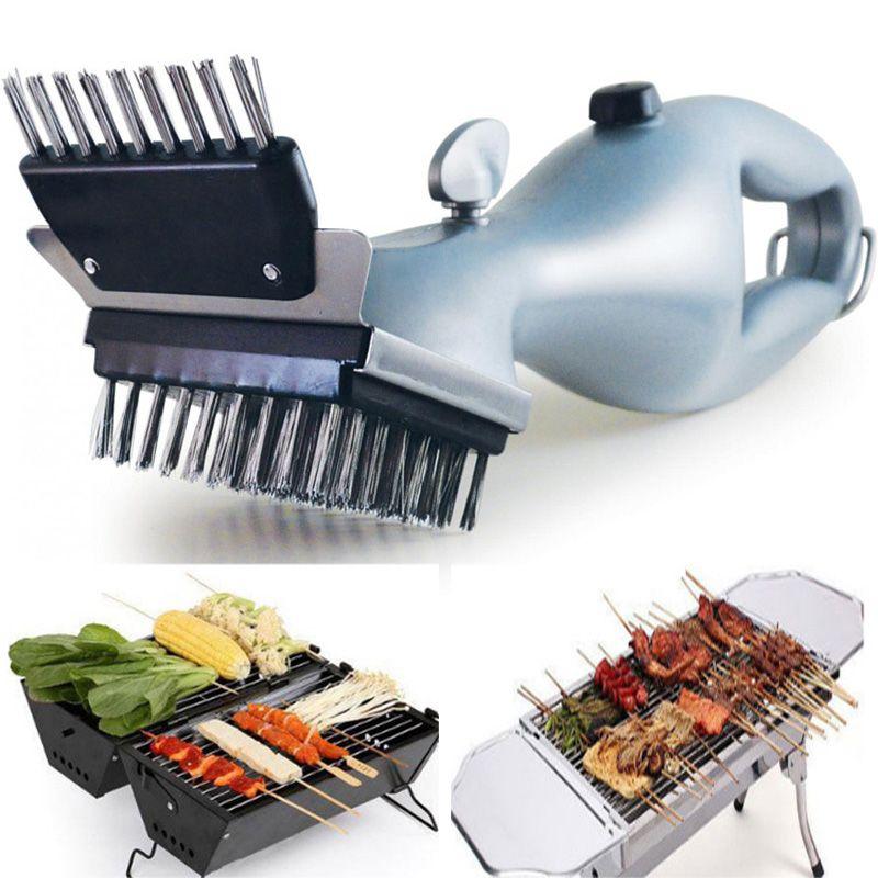 Barbacoa de acero inoxidable Cepillo de limpieza parrilla al aire libre más limpio con vapor Accesorios de herramientas eléctricas de cocción DHL WX9-1392