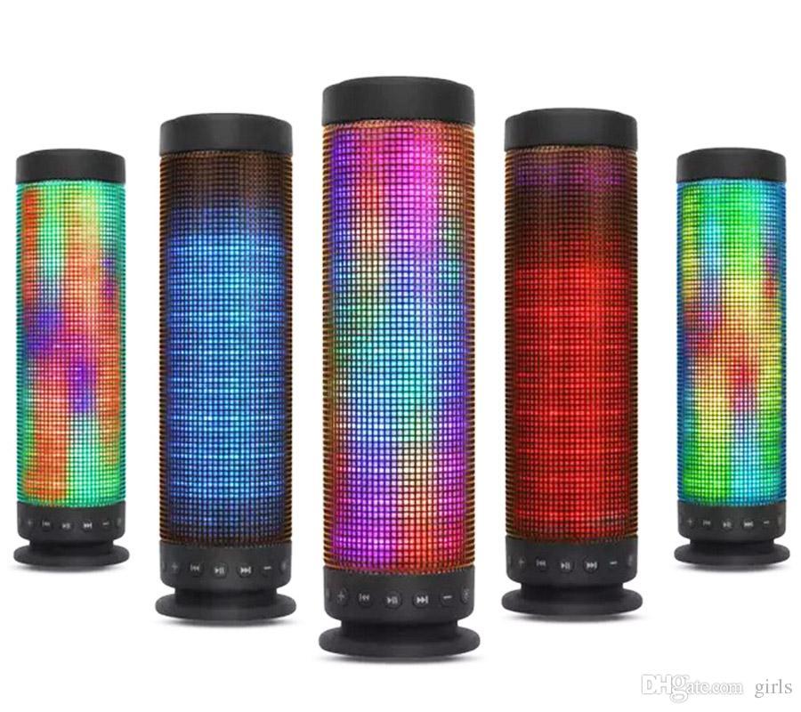 Bluetooth Speakers M10 LED Wireless speaker hands Portable loudspeaker free Atmosphere Bluetooth Speaker Wireless Bluetooth Stereo Speaker