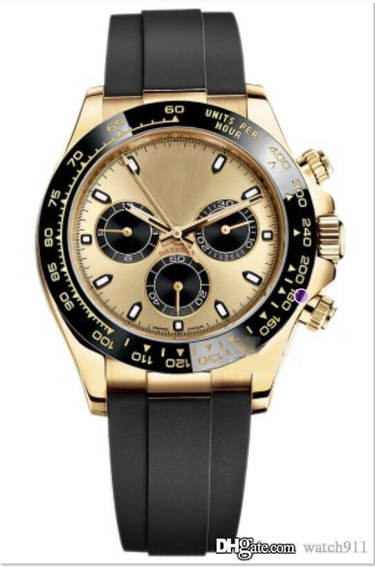 Männer Saphir Luxus automatische multifunktionale mechanische Uhr m116518ln-0048, Edelstahl 316L 18 Karat Gold mechanische Uhr