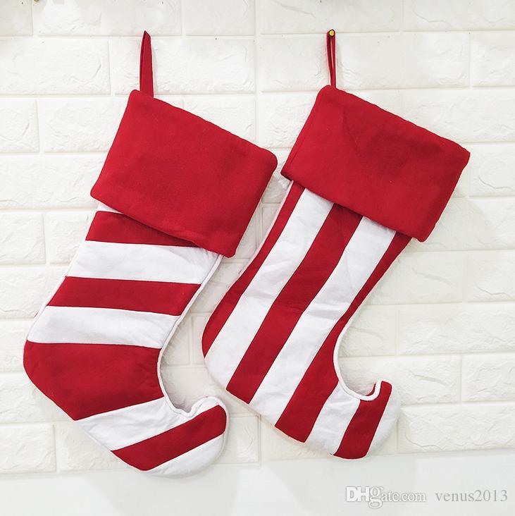 Большой Chirstmas украшения чулок нашивки Рождество Носок мешок подарка украшения рождественской елки Повесьте хранения сумка для вечеринок