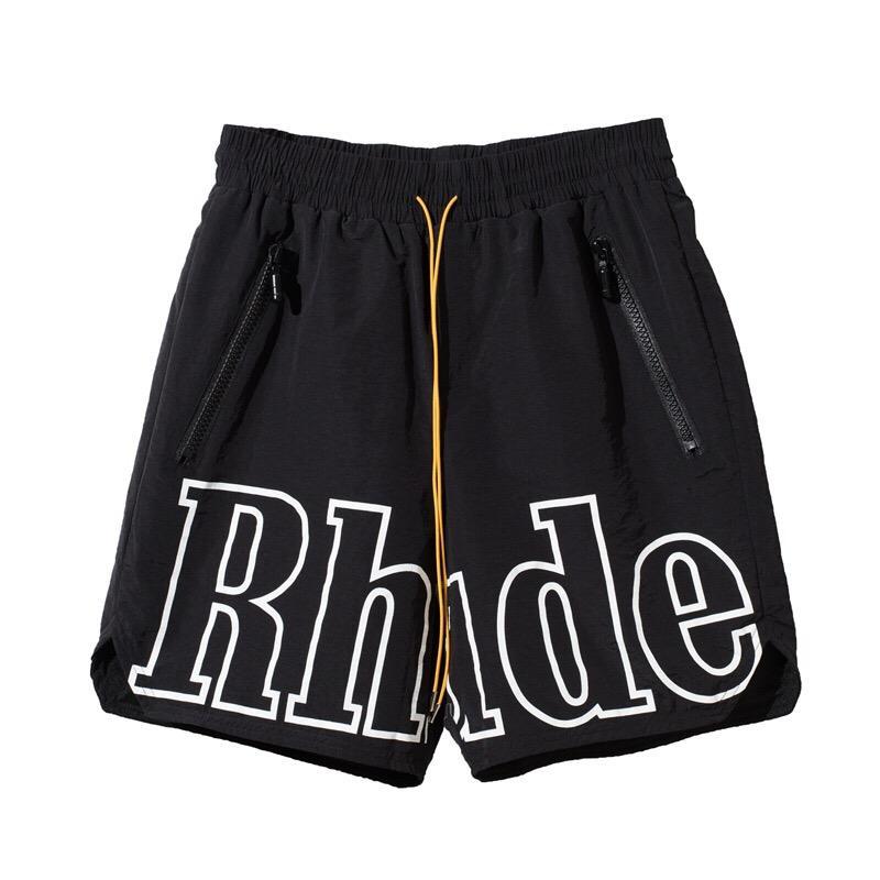 2020 Summer Fashion USA Newyork Rhude X Patron 3M réfléchissant cordes en nylon Shorts Femmes Hommes High Street Moyen Pantalon jogging Shorts