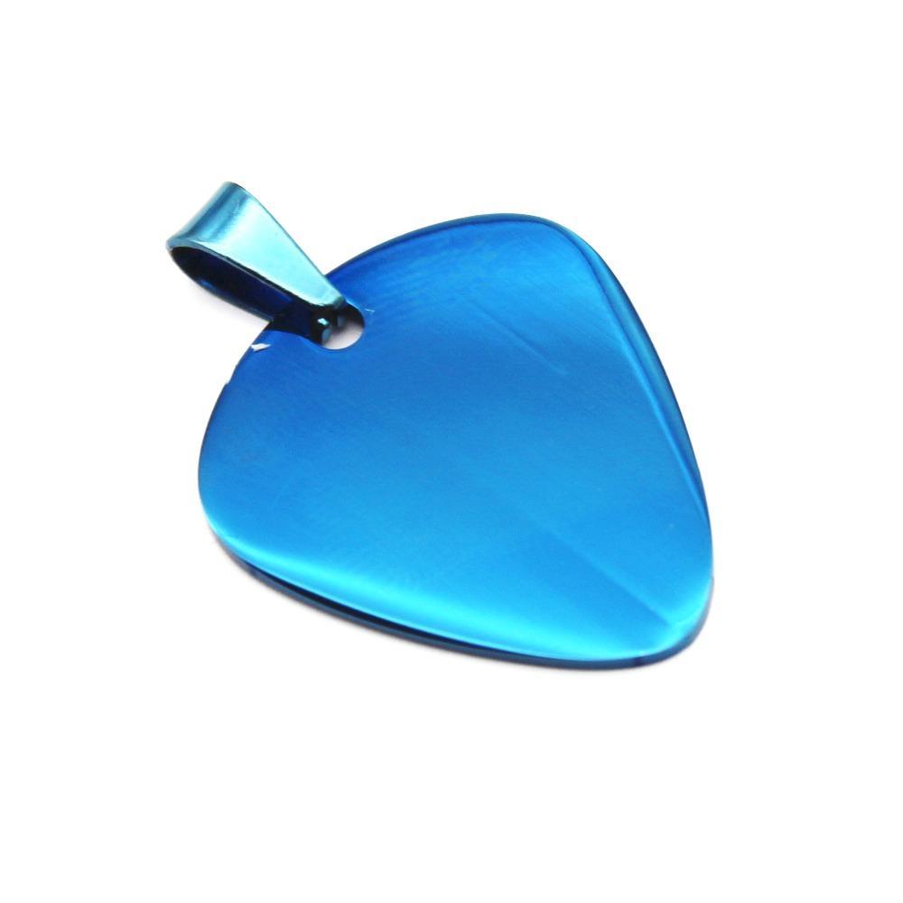 5 цветов высокое качество из нержавеющей стали медиатор кулон ожерелье унисекс код без цепи двойной стороны ногтей