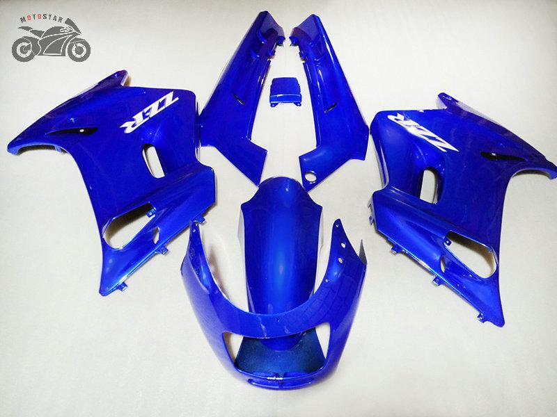 Kostenlose motorische motorradverkleidung Kits für Kawasaki 90-07 ZZR250 1990-2007 Straßenring ABS-Kunststoff Blaue Verkleidungen Körperarbeit ZZR 250 90-07 ZZR-250