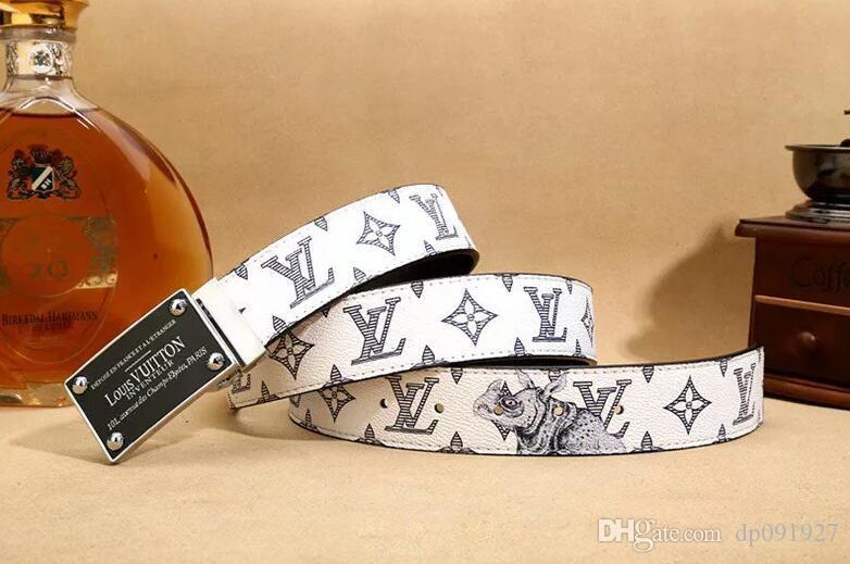 2019 nuevos hombres y mujeres de la marca de diseño de moda cinturón de hebilla de cinturón de correo libre de diseño clásico
