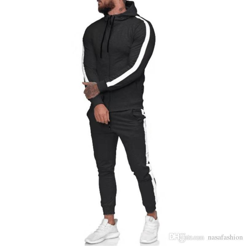 Tracksuits Casual Sprorts Mens 2PC Set Fashion Designer Hooded Man Clothing Spring Autumn Mens