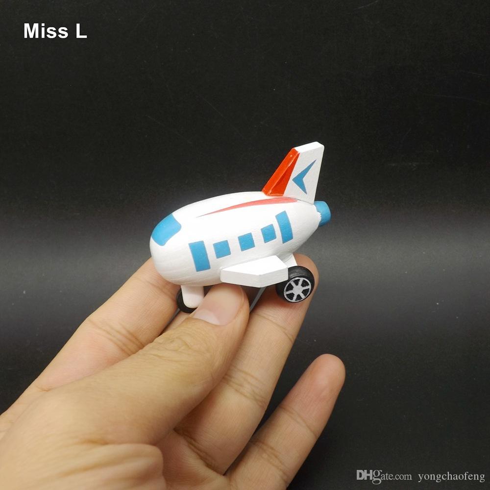 طائرة خشبية المركبات البسيطة نموذج لعبة الأطفال رياض الأطفال الوسائل التعليمية