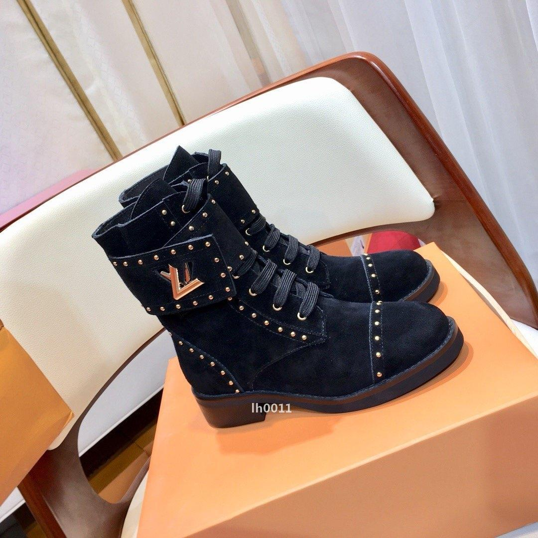 louis vuitton Lv design de luxe 526 Chaussures Femme Bottes de haute qualité Femmes confortables Chaussures Casual Avec origine Boîte luxe étoile Trail Bottines Chaussures femme
