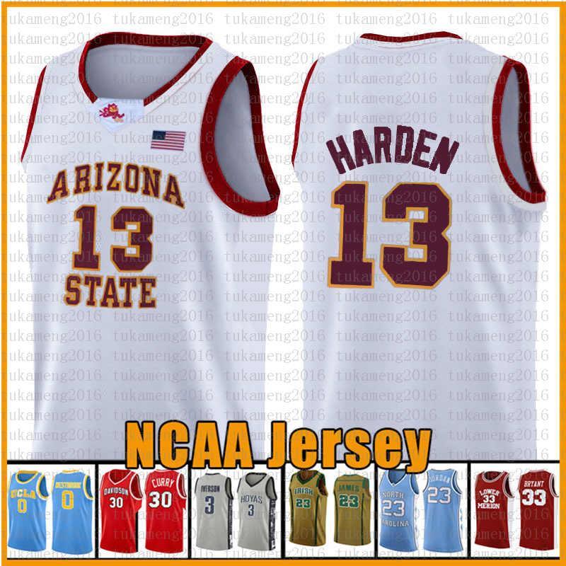 NCAA 13 Harden Basketbol Jersey Arizona Üniversitesi Devlet Bethel İrlanda Lise Formaları 23 2 Leonard 11 Irving 3 Wade 30 Köri
