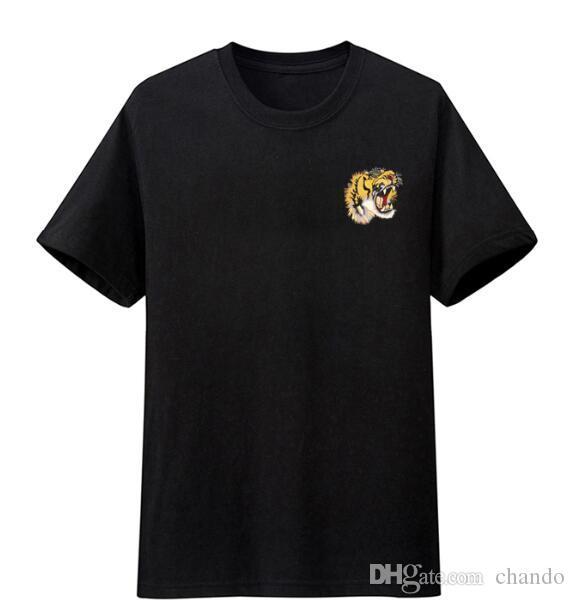 monc hombre del diseñador de cocodrilo Camisetas nueva manera de los hombres del verano la camiseta Camiseta casual camisa de manga corta de cuello redondo de algodón mezcla de las camisas de polo de la marca 1