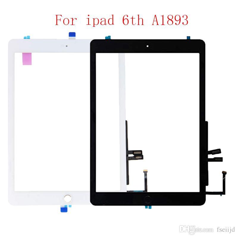 20pcs para el iPad 9.7 2018 versión IPAD 6 6ta GEN A1893 A1954 de la pantalla táctil de cristal con el botón Inicio