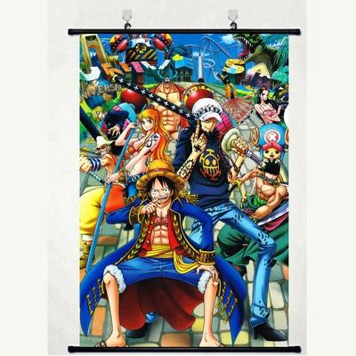One Piece Anime Assassins Color Abstract Art Laminas Decorativas Pared Luffy Cuadros Painting Dormitory Decoration Anime Scroll Posters