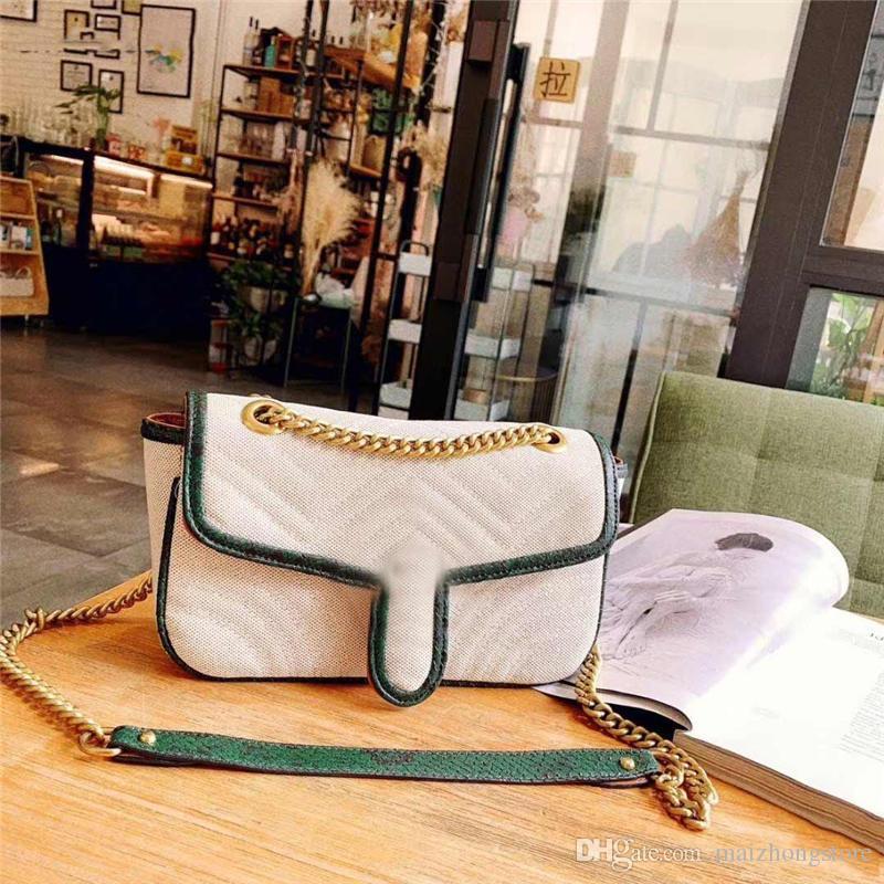 Роскошная дизайнерская сумочка для женщин Сумка на ремне с цепочкой через плечо Хорошая двойная женская сумка на ремне