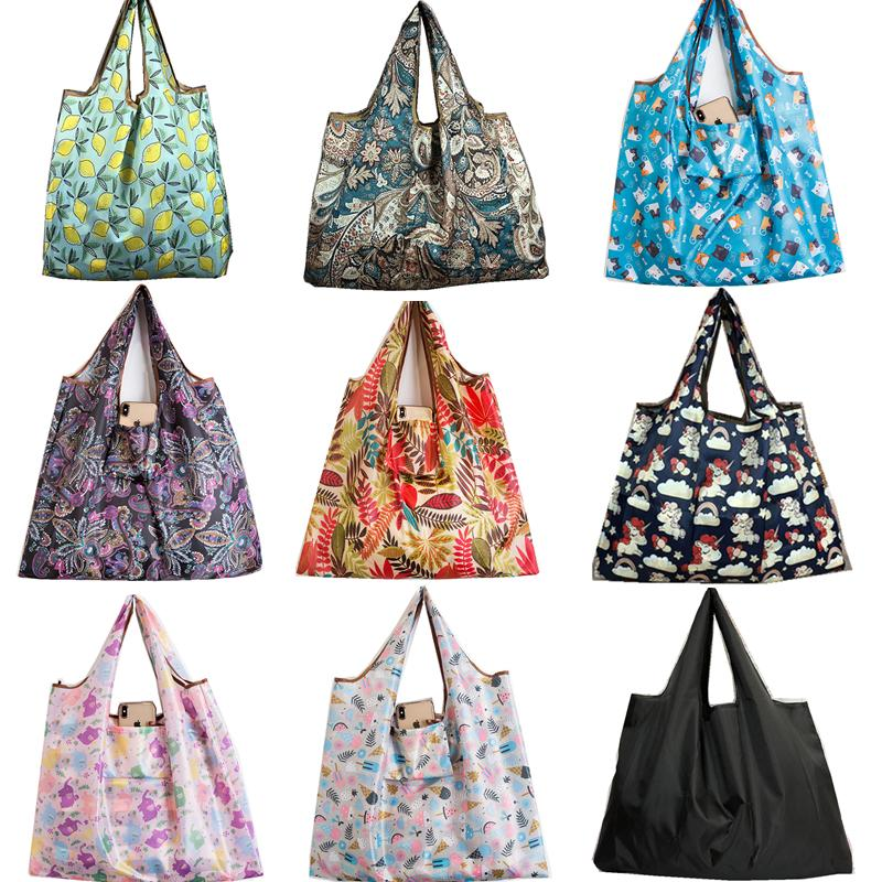 baggu كبيرة الحجم سميكة ماجيك أسلوب نايلون كبير حمل ECO ReuPolyester محمول حقيبة الكتف للطي الحقيبة حقيبة تسوق قابلة للطي حقيبة قماش