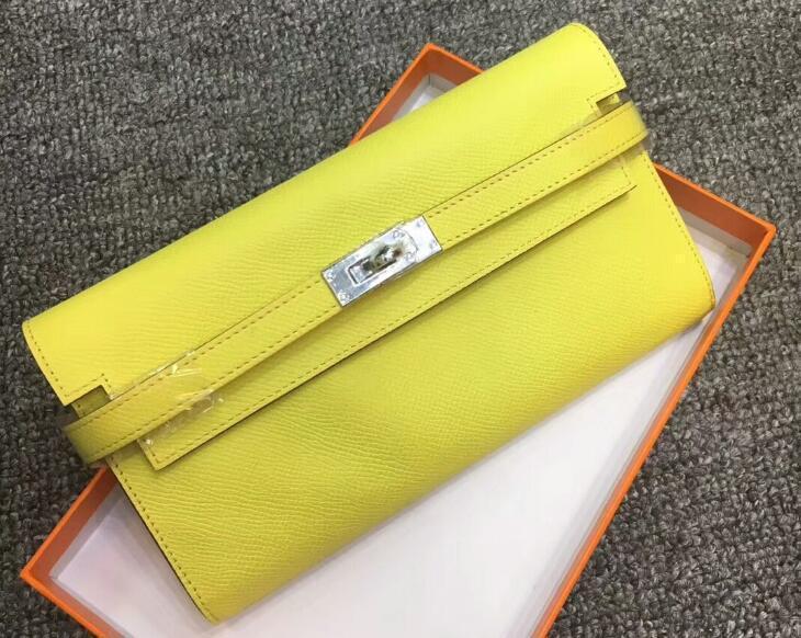 3A Qualität Kellly Klassische Wallet Epsom Kalbsleder Handtasche, 12 Kartensteckplätze, 2 Bill Tasche, Zentralhandtasche mit Reißverschluss, mit Staubbeutel-Box