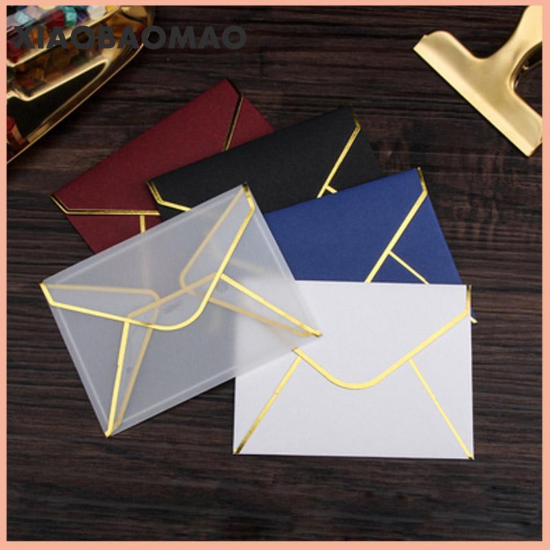 10pcs 10cm Transparentpapier-Umschlag Heißpräge Drucken verdicken Papierumschlag für Einladung Jahrestag Scrapbooking