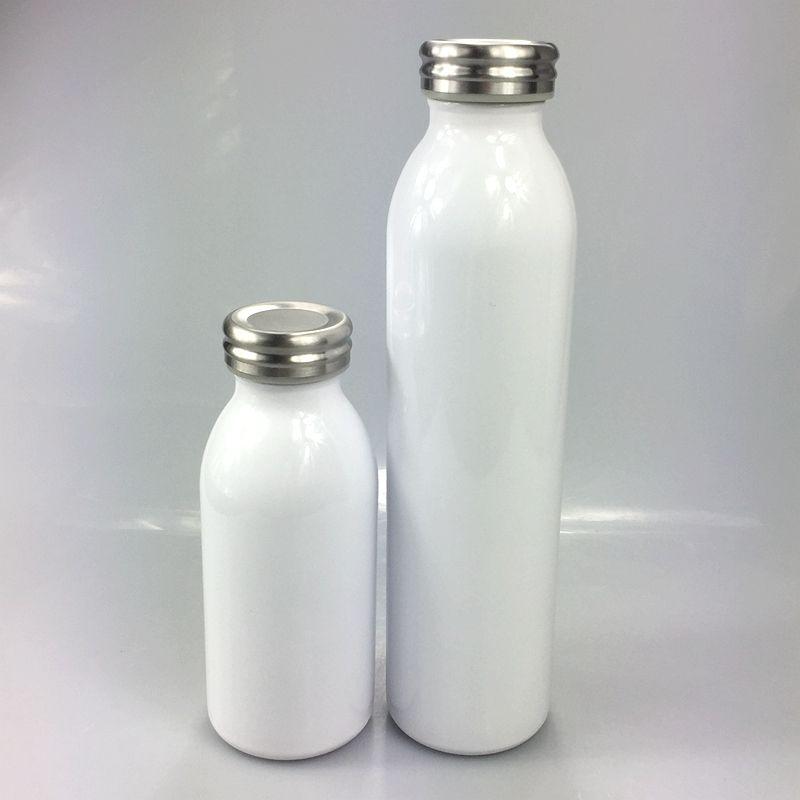 New sublimação 12 onças 20oz garrafa de leite mamadeira garrafas de água para crianças paredes duplas de aço inoxidável com tampa à prova de vazamento