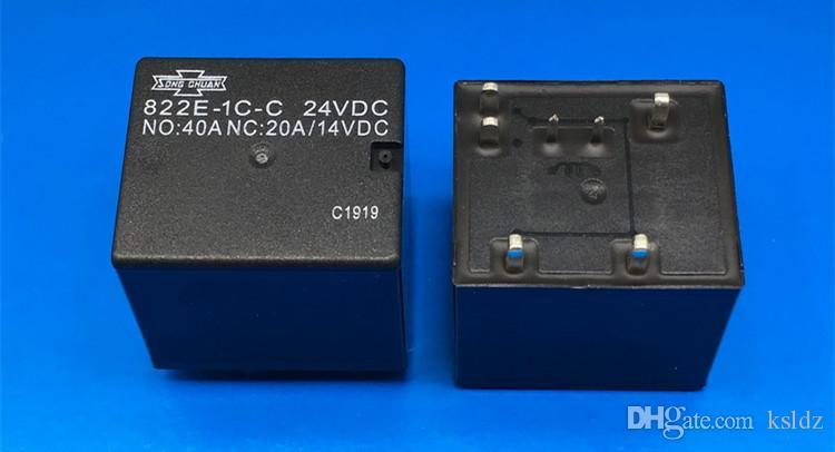 무료 배송 (5pieces / 많은) 100 % 원래 새로운 노래 CHUAN 822E-1C-C 822E-1C-C-12VDC 822E-1C-C-24VDC 7PINS 40A 12VDC 24VDC 자동차 릴레이