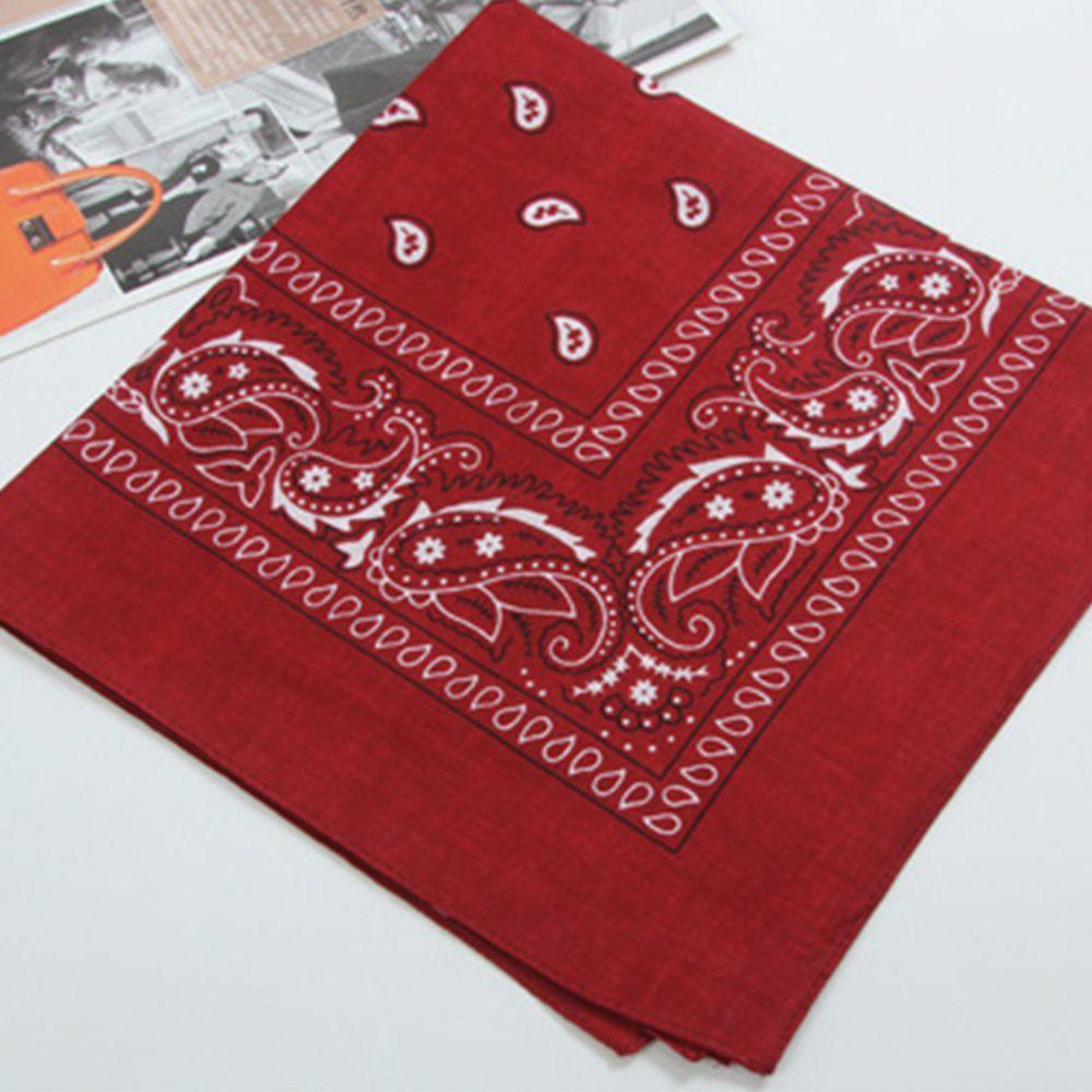 55cm*55cm Cotton Hip Hop Paisley Bandana Square Scarf Head Wrap Neck Wrist band Handkerchief Represent Your Individual Style C19011001