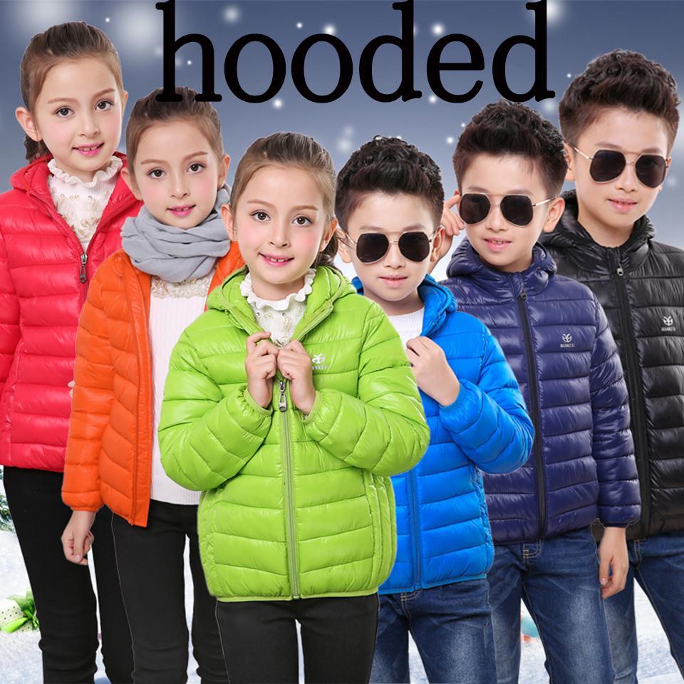 Kızlar Erkekler Bahar için Çocuk Ceket / Boy Çocuk Aşağı Pamuk Coat 2-15 yaşında Light Kabanlar Parkas Genç Kış Ceket düşmek