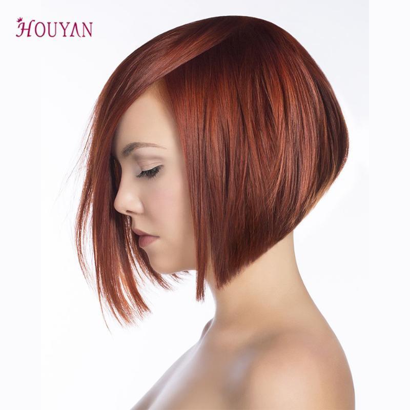 Houyan kurze gerade Mode Bob Frisur Perücke für Frauen 31Colors verfügbar Synthetic Cosplay Perücke hitzebeständig