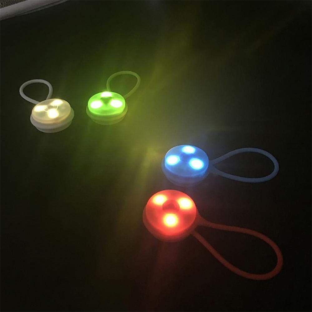 실용적인 자전거 라이트 배낭 램프 방수 깜박이 불빛 세트 실리콘 램프 경고 비상 방수 안티 - 가을 # 20