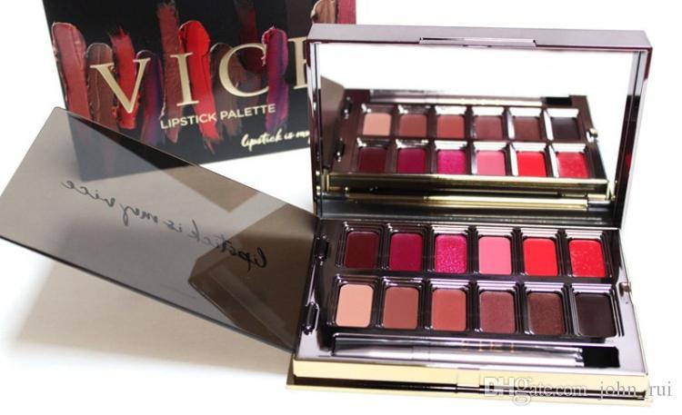 Vice Blackmail Lipstick 12 Colors Lip Gloss Palette Cream Lip Makeup Long Lasting Cosmetics Limited Edition Lip Gloss Palette