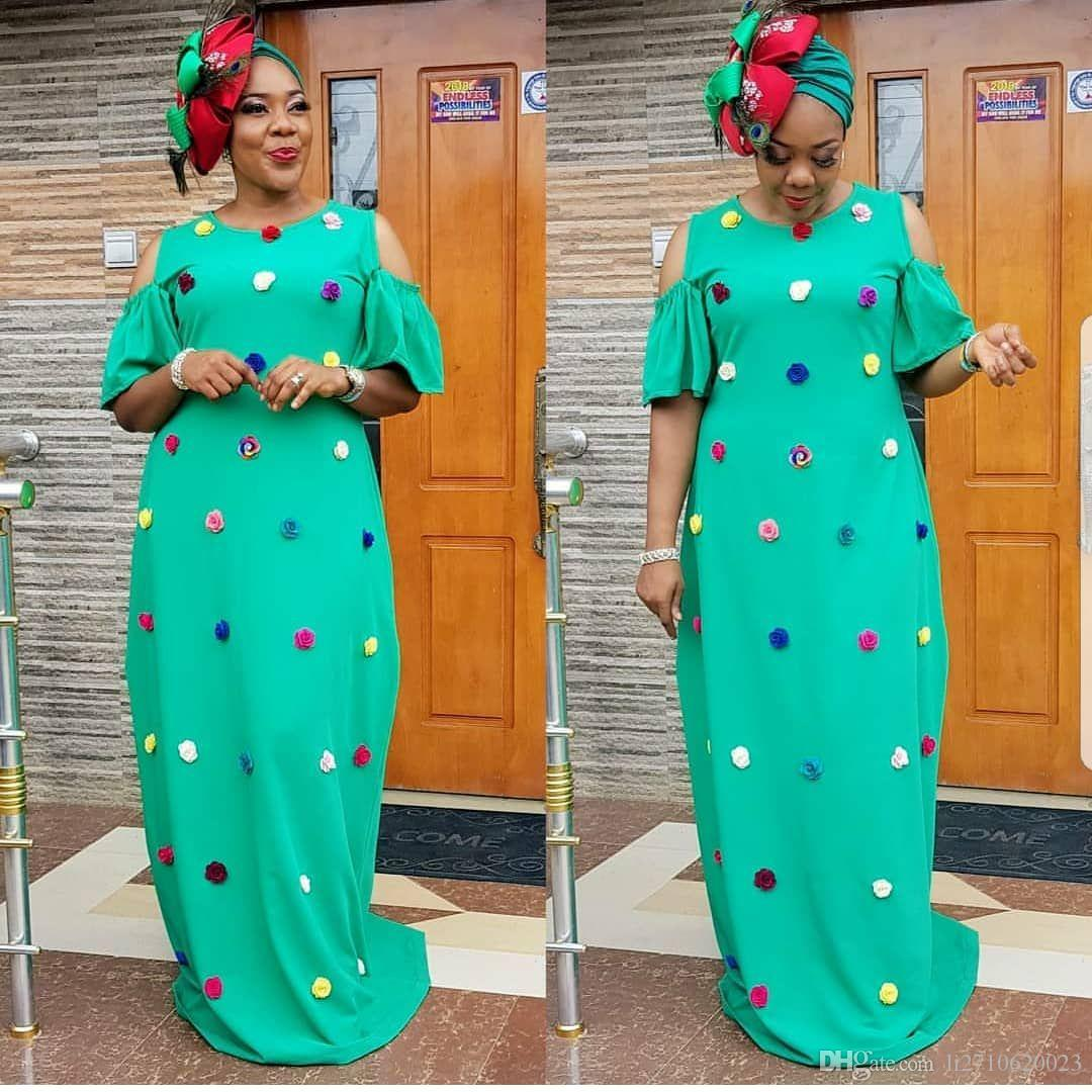 حجم كبير زين فستان عارضة 2019 ملابس نسائية الأفريقية الجديدة الأزياء الإفريقية رداء طويل فضفاض فستان ماكسي أفريقيا الملابس