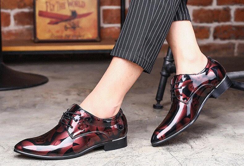 zapatos de vestir de los hombres de los hombres zapatos de vestir de moda de lujo de cuero casual de negocios zapatos de la boda de los hombres de Oxford zapatos de hombre