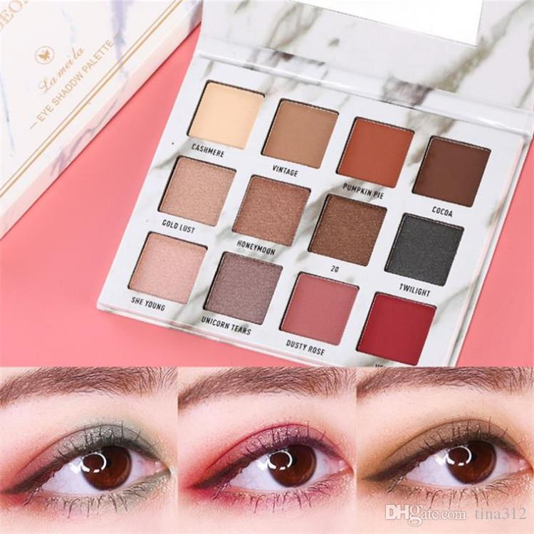 12 color Marble pearl light eye shadow pearl light matte Fashion eye shadow waterproof and non Halo dyeing color make up T9F0040