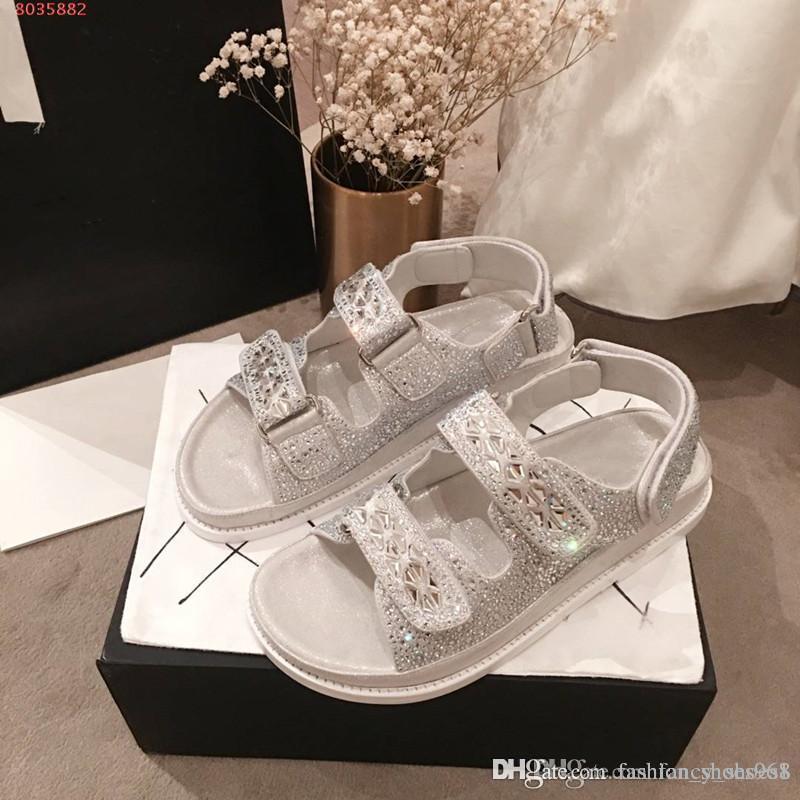 Zapatillas de verano con punta abierta de cristal para muffin, bajas para ayudar a las sandalias con plataforma de cuña, zapatos de señora, sandalias blancas