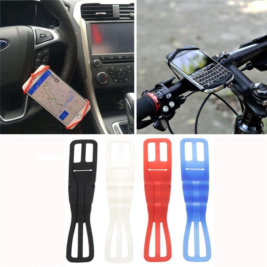 Bike Bicycle Cycling Silicone Elastic Strap Bandage Light Lamp Mount Holder US